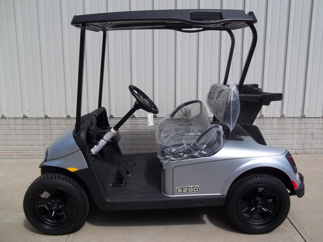 2017 E-Z-GO RXV Electric 48volt Matte Silver Limited Edition New Black Seats & Top Freedom Lights