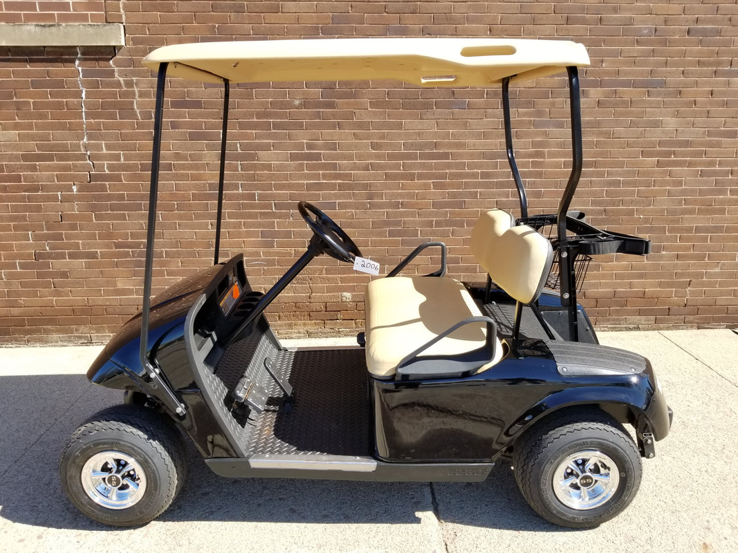 ​2006 E-Z-GO TXT Gas, Black, Tan Seats & Top, Refurbished