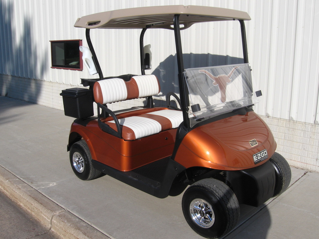 Texas Longhorns Car E-Z-GO RXV Custom Seats