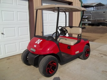 2012 E-Z-GO RXV Red Nebraska Huskers Golf Car