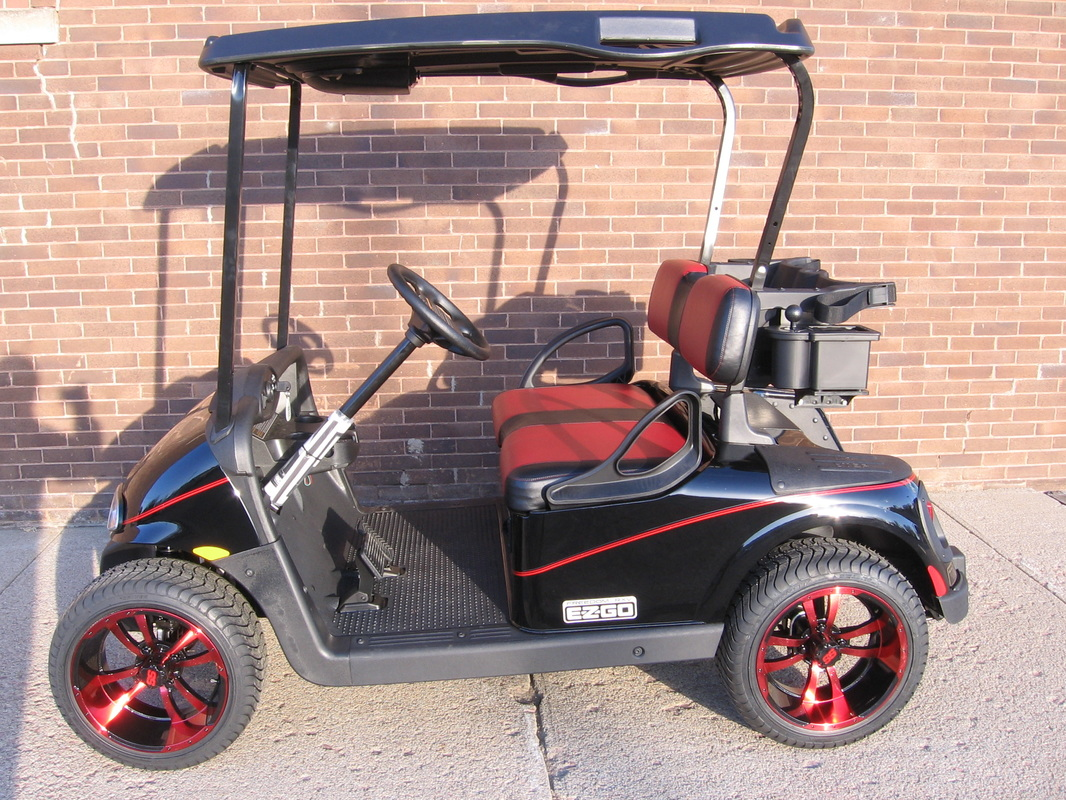 2015 E-Z-GO RXV Custom Black and Red